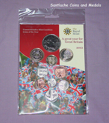 2012 ROYAL MINT JUBILEE BRILLIANT UNCIRCULATED SET COINS - Includes £5 Crown