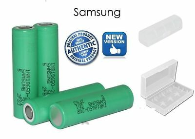 100% GENUINE SAMSUNG 25R 18650 2500mAh 20 35A INR Vape BATTERIES With Free CASE