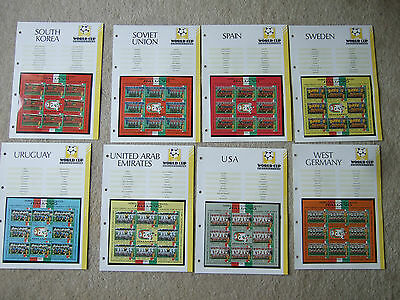 squad sheet fifa world cup italia 90 west germany inc 8 team stamps