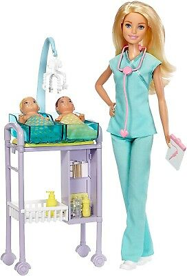 Mattel Barbie Careers Pretend Play Toddler Baby Doctor Doll and Medical Playset