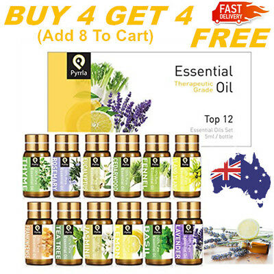 Essential Oils 100% Pure Natural Aromatherapy Essential Oil Fragrance Aroma AU