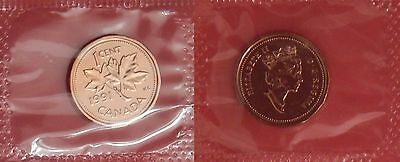 Proof Like 1991 Canada 1 Cent Sealed in Cello