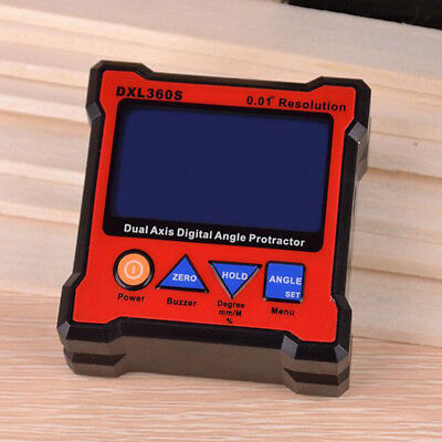 Digital Protractor DXL360S Digital LCD Dual Axis Level Box 0.01°Resolution