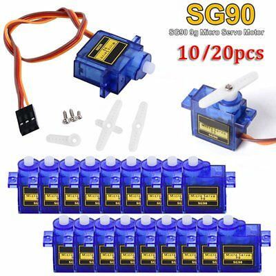 10/20x 9G SG90 Mini Gear Micro Servo Motor RC Robot Helicopter Airplane Control