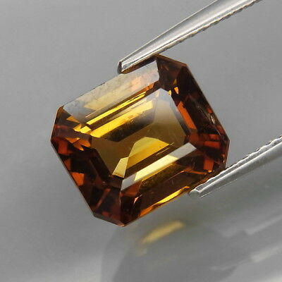 4.74Ct.RARE COLOR Natural Imperial Champagne Tourmaline Mozambique Perfect Shape