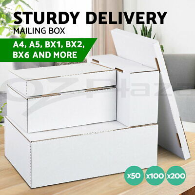 【20%OFF】50x-200x Mailing Box Shipping Mailer Cardboard Boxes A4 A5 BX1 BX2 BX6