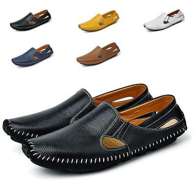 Men's Summer Loafer Driving Moccasin Casual Breathable Shoes Slip On Sandals