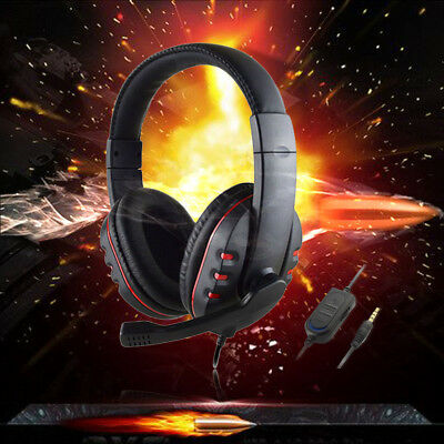 3.5Mm Wired Gaming Stereo Headset Headphone Mic For Wii Ps4 Xbox One Smart Uk
