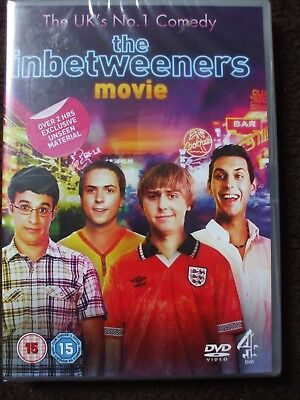 """The Inbetweeners Movie DVD.""""Over 2 Hrs Unseen Material""""..BRAND NEW AND SEALED."""