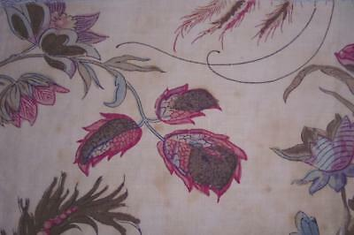 BEAUTIFUL FRAGMENT 19th CENTURY FRENCH LINEN INDIENNE BLOCK PRINT 99