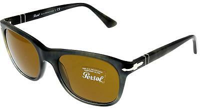 d7ceacb0da8 PERSOL SUNGLASSES MEN Brown Grey Havana Rectangular PO3102S 101733 ...
