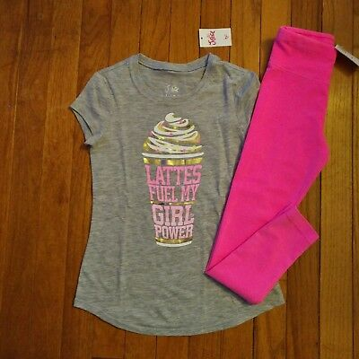 NWT Justice Girls Latte Top/Leggings (Full Length) Size 6  7 8 10 12 Outfit