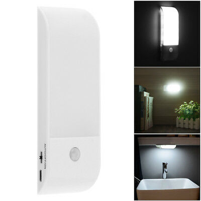 12 LED Motion Sensor Security Lamp Cabinet Wardrobe Wall Light USB Rechargeable