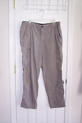 NEW Mens CHAPS W 38 L 30 Gray Casual Pants Excellent Condition!!!