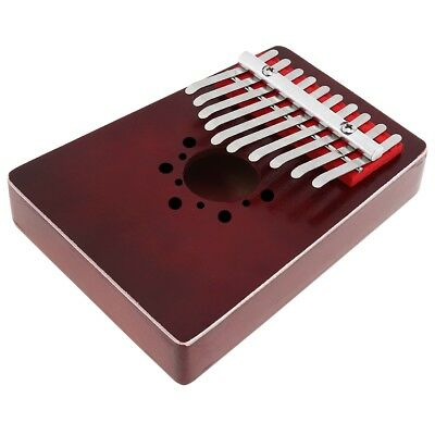 10 Key Kalimba Single Board Mahogany Thumb Piano Keyboard Instrument Kids Gifts