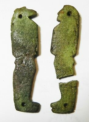 Zurqieh -As10241- Ancient Egypt, Two Sons Of Horus Amulets. 600 - 300 B.c