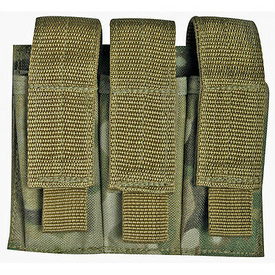 NEW Military Style Tactical Triple Pistol Mag MOLLE Pouch  GENUINE MULTICAM CAMO