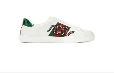08245621227 GUCCI Snake Ace Embroidered Mens sneaker SIZE 10 Brand New 100% Authentic  Origin