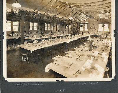 1933 US Army Christmas Dinner, Fort Armstrong Hawaii 8x10 Photo