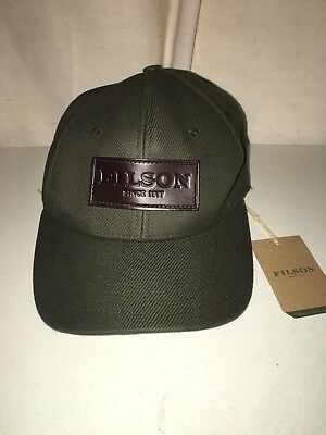New Filson Made In Usa Limited Edition Cotton Leather Logger Cap One Size 849f17deb56c