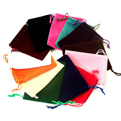 10Pcs Velvet Storage Bags Wedding Favor Pouch Jewelry Packaging Gift Bag Lit Pr