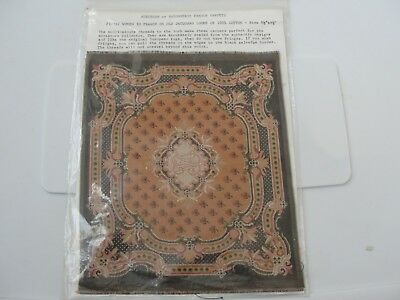 """:Dollhouse Miniature """" Savonnerie""""  French Carpet  MIP 8 1/2"""" by 9"""""""