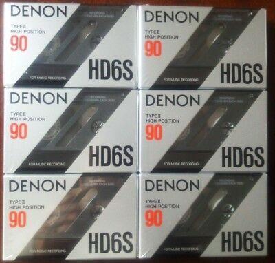 CASSETTE TAPES BLANK SEALED - 6 x (six) DENON HD6S 90 [1990-91] - MADE IN JAPAN