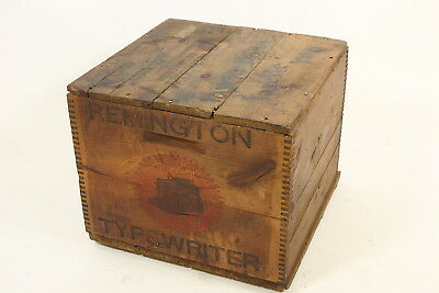Remington Typewriter Antique Shipping Crate Box Fayette MO Bank Model 10A 1914