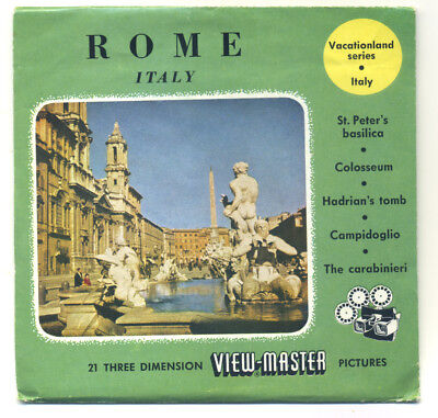 ROME Italy 1959 Belgian-made ViewMaster Packet with Reels 1601 1602 1603