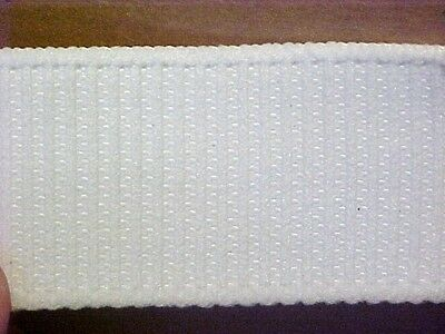 "ELASTIC 1-1/2"" White Non-Roll Ribbed Waistband ELASTIC 5 yds."