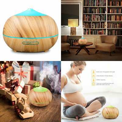 Essential Oil Diffuser 400Ml Wood Grain Cool Mist Aromatherapy Humidifier Ultras