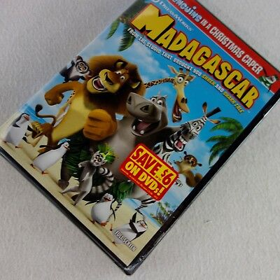 Madagascar Full Screen Edition DVD New Sealed Include Penguins Christmas Caper