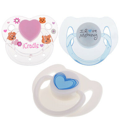 3pcs ABS Plastic Dummy Pacifier Reborn Magnetic Pacifier Baby Doll Supplies