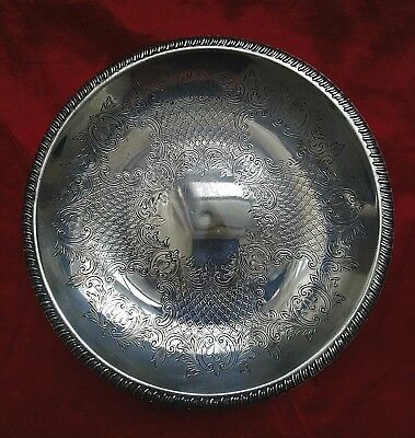 Nicely Decorated Silver Plate Bowl
