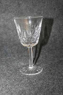 """Waterford Crystal Signed Lismore Claret 5 3/4"""" Wine Champagne Glass"""