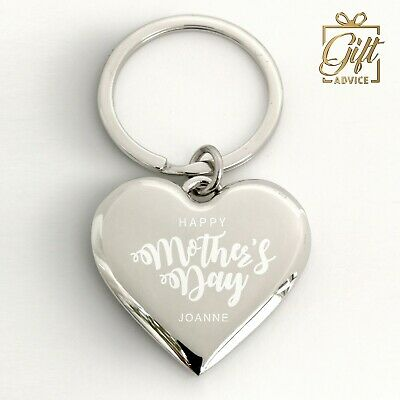 Customize Heart Shape Keyring Keychain Engraved Personalised Gift Valentine'sday