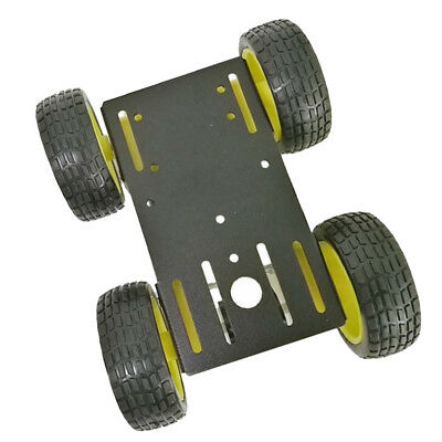 4WD ROBOT CHASSIS Kit with 4 Flame wheel Motors for Arduino