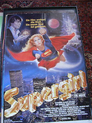 Orig. Filmplakat : Supergirl The Movie , Faye Dunaway , Helen Slater, Mia Farrow