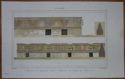 1843 print ANCIENT MAYA CITY, UXMAL, YUCATAN, MEXICO (#3)