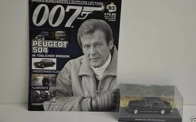 Nr. 83 James Bond 007 Modellauto Collection - Peugeot 504 1:43 mit Heft in Box