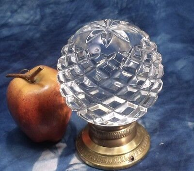 VINTAGE STAIR NEWEL POST GLASS CAP BALL BANNISTER FITTING  1 kg 640