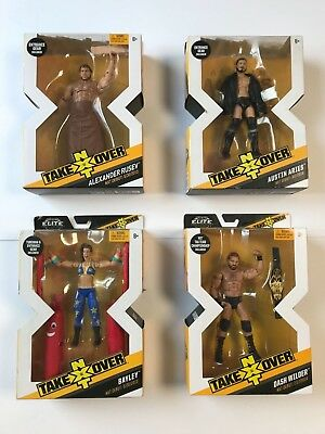 WWE NXT Takeover Elite Figures Mattel - Rusev, Bayley, Austin Aries & Dash