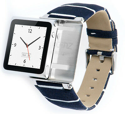 iWatchz Nautical Blue,hochwertiges Armband für Apple iPod Nano 6 ,nanoclipz