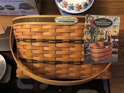 Longaberger Traditions Collection Family Basket With Liner and Protector
