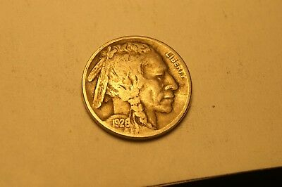 Finish Book With Circulated Coin,0967 Date Hard To Read 1926 P Buffalo Nickel