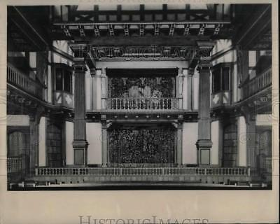 1949 Press Photo Elizabethan Theater Folger Shakespeare Memorial Library