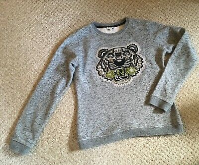 Kenzo grey beaded jumper age 16 girls also fit size 8 womens 048c11d2f
