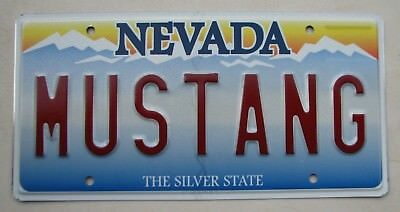 "Nevada Vanity License Plate "" Mustang "" Ford Pony Shelby 1965 Stang"
