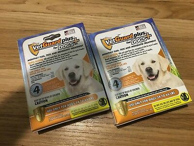 VetGuard Plus Flea & Tick Treatment for Large Dogs 8 month supply 34 - 66 Lbs