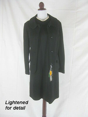 Vtg 50s 60s Russ Black NOS Dead Stock Womens Vintage Dress Jacket Set W 40